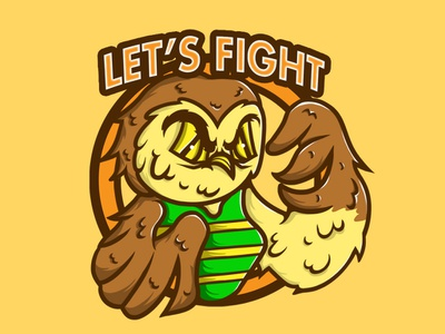 Let's Fight album merc art chara design illustration