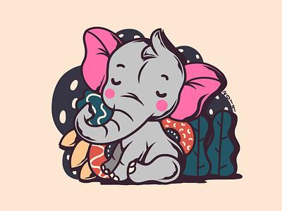 Elephant Kid album chara cover vector artw art illustration merc album art