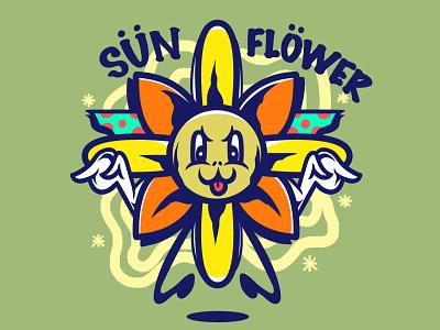 SunFlower cover design vector album art art chara artw merc album illustration