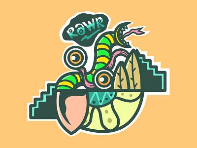 RaWr logo vector cover album art chara artw art merc album illustration