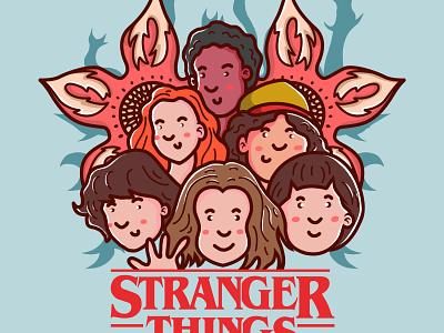Stranger Things illus design vector cover album art art album chara artw merc illustration