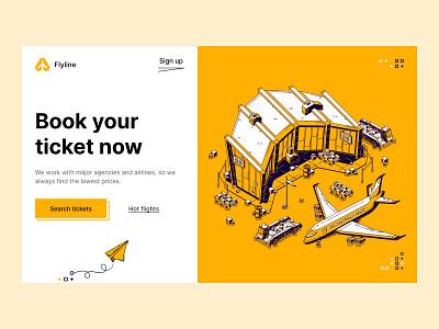 Flyline - concept concept logo typography website web minimal flat design ux ui
