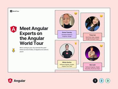 JS World Tour   Marketing Website javascript webflow layout branding landing page react vue angular code tour js graphic design website minimal flat web design ux ui