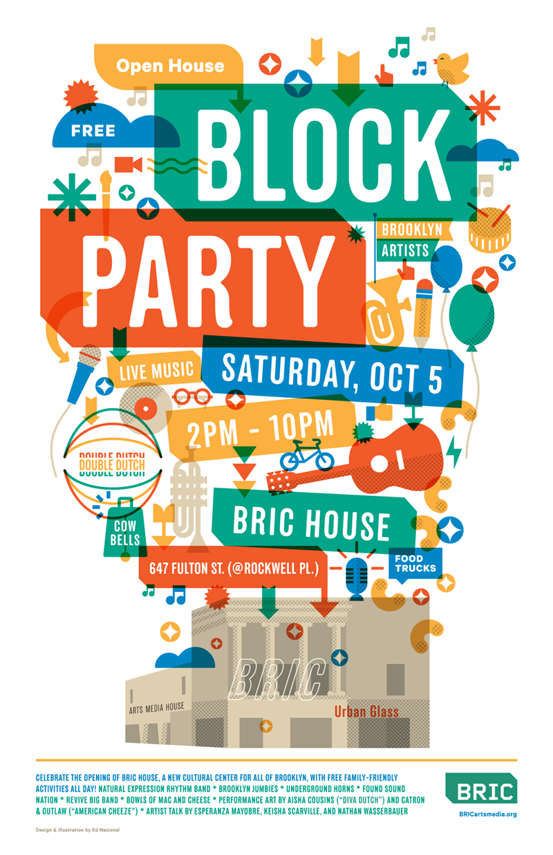 Dribbble bricarts blockparty ednacional by ed for Block party template flyers free