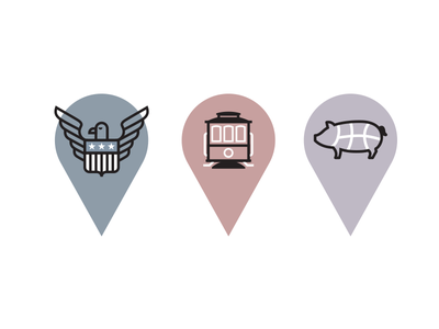 Bonobos Markers markers icons