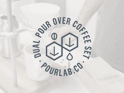 Pour Lab badge logo coffee identity pour over