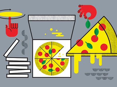 Pizza Pie pizza illustration