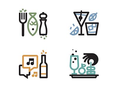 Bites, Boite & Buzz icons