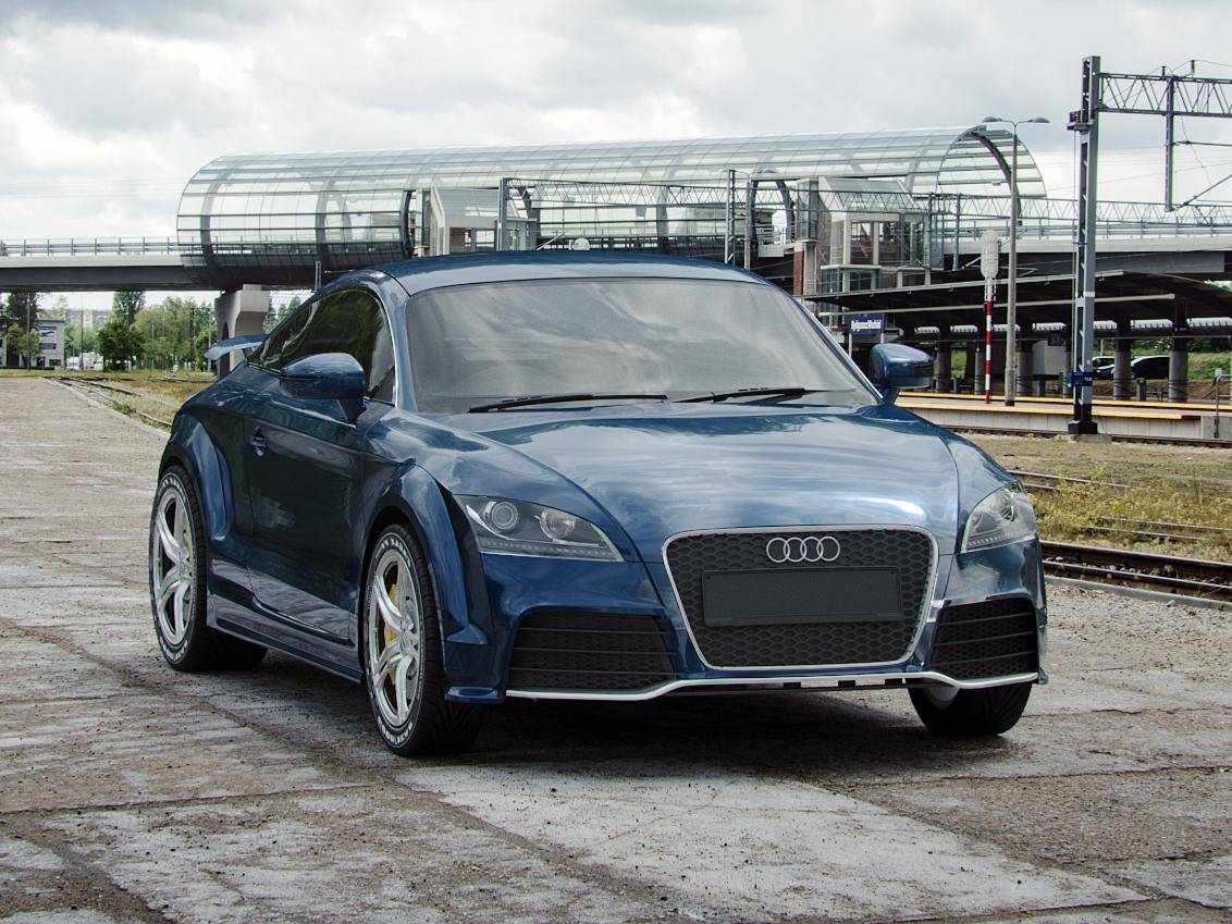 Audi TT RS corona renderer ttrs tt audi car corona render coronarender render rendering photoshop 3dsmax 3d artist 3d art 3d