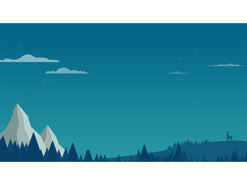 Clara on a Mountain background llamas theme illustration landing page identity branding