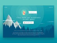 Clara Chat Bot Landing Page