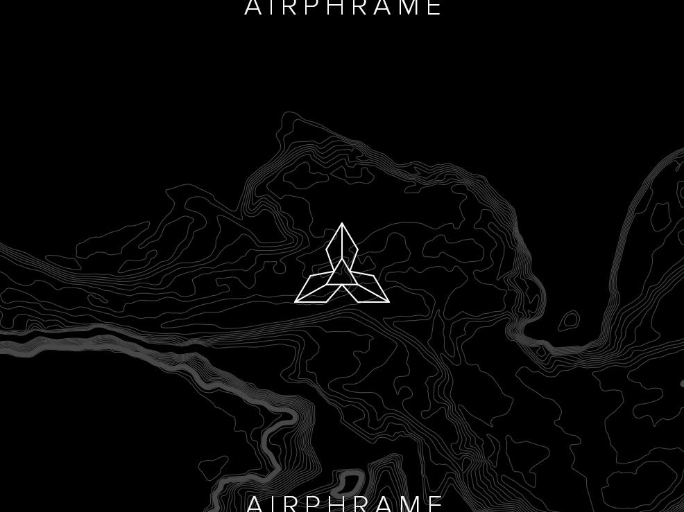 Airphrame Branding geometry logos isometric geometric vector a logo creative direction minimal typography identity illustration logo brand branding