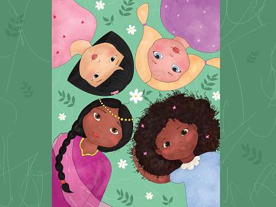The beauty of diversity design children childrensbook book photoshop illustration
