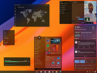 Windows 10 - Concept #2 concept design fluent design fluent design system fluent redesign concept skype design ui gradient design windows