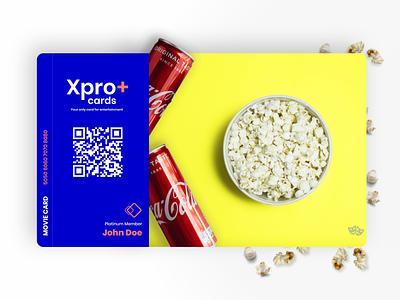 Xpro+ Card Design concept movie card movie tamil vector card design product design credit card card logo branding design