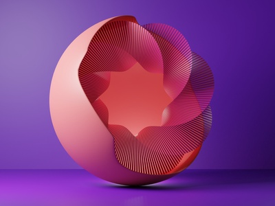 Attempting 3D Abstract cycles render flat  design bend twist colors abstract blender 3d blender 3d
