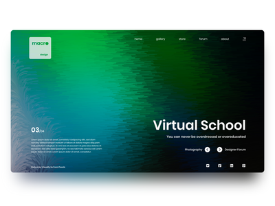 macrodesign Web Page 03 website design minimal adobe xd landing page illustrator ui colors landing page design web design