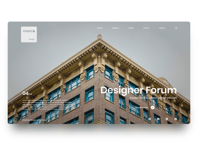 macrodesign Web Page 03 illustrator ui adobe xd logo web development layers minimal landing page web design web design