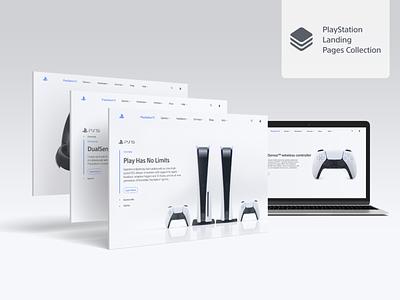 PS5 Landing Pages freepik ui design ui  ux behance project behance web design design landing page design landing page