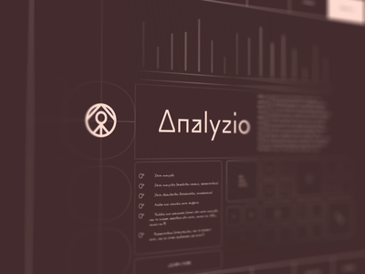 Analyzio - About Page web design shot pallete colors adobe xd photoshop logo about page data science data design