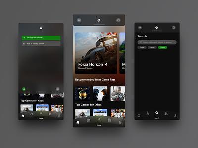 Xbox App Redesign playstation tamil ui design remix fluent design mobile app design xbox redesign ui design ui  ux