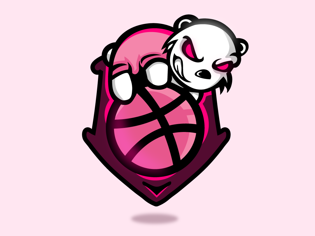 Hello Dribbble panda logodesign firstshot hellodribbble