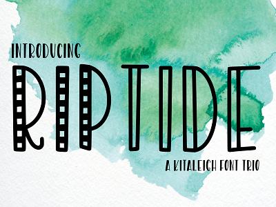 Riptide Font sans serif font design typography font family font
