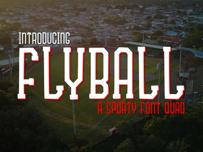 Flyball a Fun Sporty Font