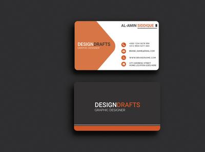 Corporate business card design.