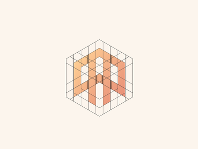 A logo design monogram initial grid brand illustration vector flat icon graphic design logo design branding