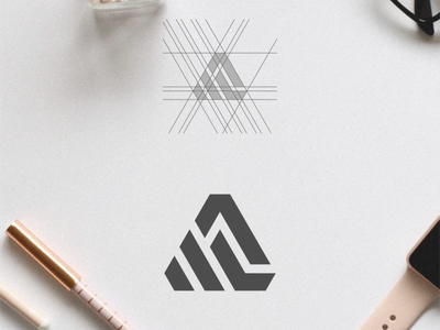 AL Logo design illustration vector flat icon graphic design logo design branding