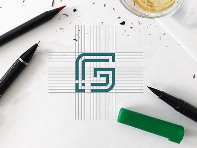 G logo design illustration vector flat icon graphic design logo design branding