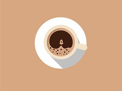 Rocket Coffee design logo art flat type web vector ux ui mobile logo ios illustration app icon graphic design design branding animation