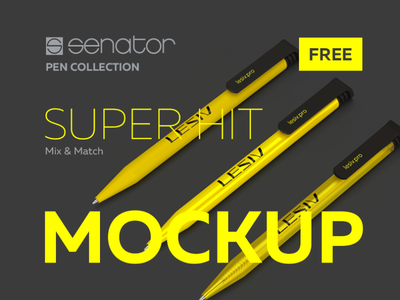 Senator pen mockup. SUPER HIT russia mock up hit super senator mock-up psd mockup psd pens pen mockups mockup psd mockup branding identity design