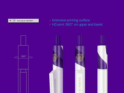 Senator Pen Mockup. Centrix graphic design 3d mockup ui branding illustration logoped symbol mark logotype logo design russia