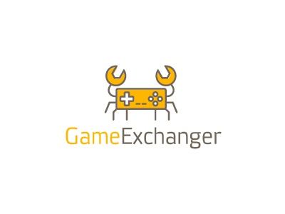 Game Exchanger russia logoped symbol mark design creative logotype brand identity logo change game