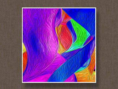 Oil Painting minimal website flat liquid illustration animation web vector branding design