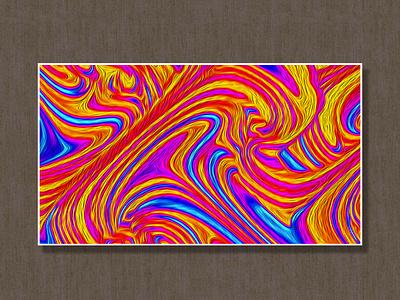 Oil Painting minimal flat app liquid icon illustration animation web vector branding design