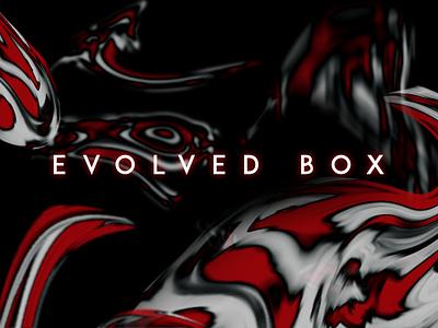 evolved box website minimal logo typography liquid app illustration animation web vector branding design