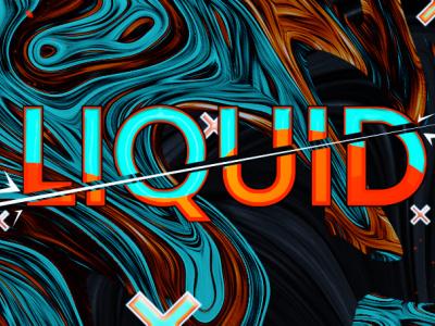 Liquid Banner liquid web animation branding design