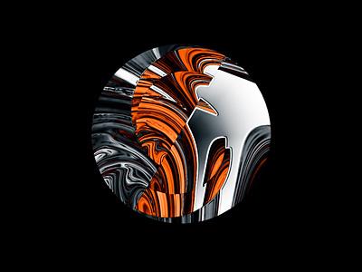 Abstract isometric liquid illustration animation branding design