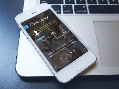 Recruiter App | Onboarding  iphone mockup