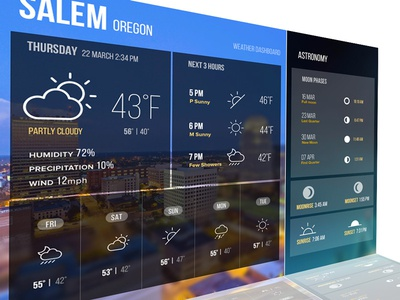 Weather Dash dashboard weather