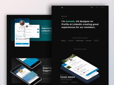 Personal Portfolio stuff -WIP webdesign web ui typography site simple portfolio navigation flat design