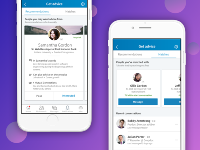 Find a mentor on LinkedIn - Career Advice ux play isometric iphone white store app advice career