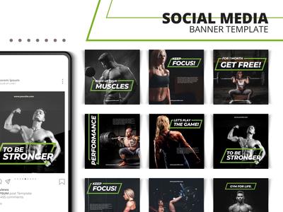 Gym Social Media Banner Templates
