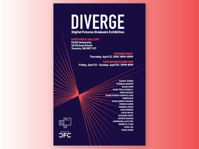 Diverge - Poster design