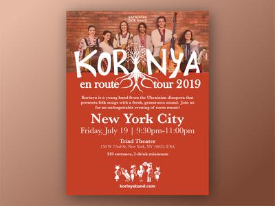 Korinya Tour Poster