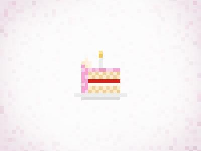 Pixel cake yummy yum birthday pixel pixelified pixelated pic pixelart cake pink sweet girly