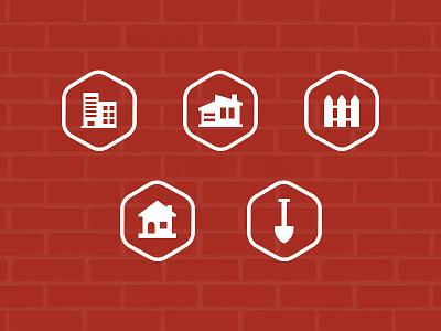 Masonry icon glyph ui icons bricks mason carft handyman services